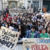 Estudiantes del IES Astillero se manifiestan por la defensa de la educación pública y el apoyo a los estudiantes de Valencia
